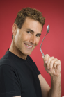 Uri Geller with a Spoon
